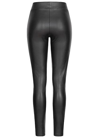 ONLY Damen NOOS Kunstleder Leggings mit Gummibund schwarz