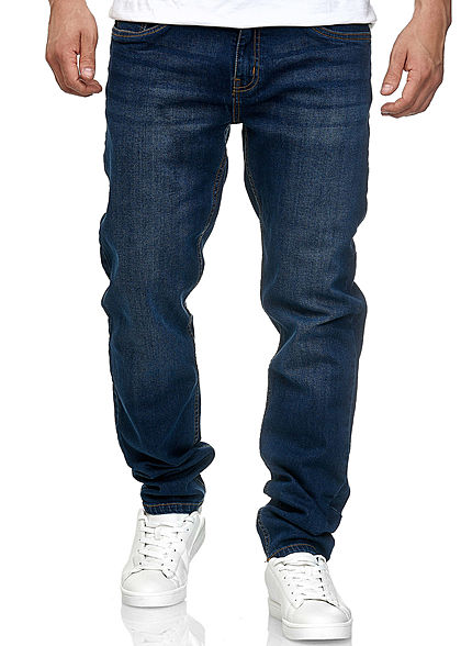 Seventyseven Lifestyle TB Herren Stretch Denim Jeans 5-Pockets dunkel blau