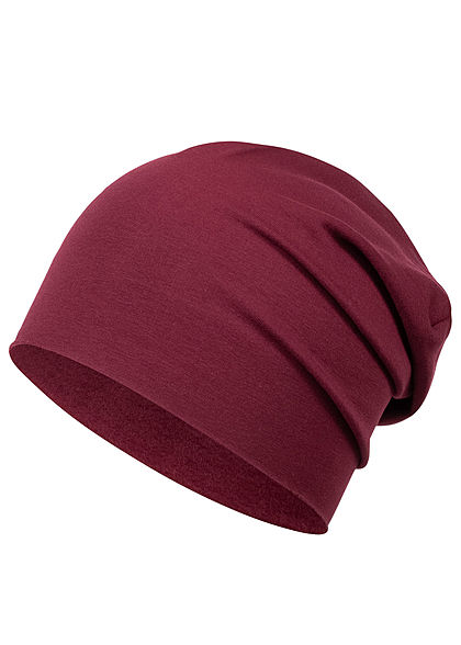 Styleboom Fashion Basic Beanie bordeaux rot