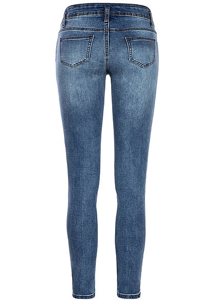 Seventyseven Lifestyle Damen Skinny Jeans 5-Pockets medium blau denim