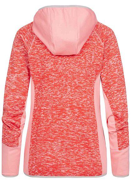 Seventyseven Lifestyle Damen Regatta Zip Hoodie 2-Pockets rosa melange