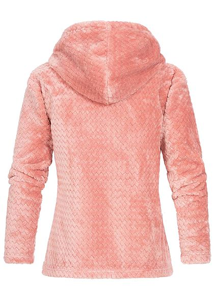 Seventyseven Lifestyle Damen Structure Fleece Hoodie rosa
