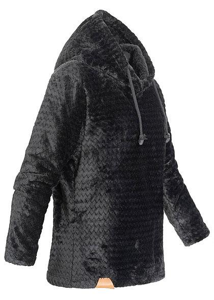 Seventyseven Lifestyle Damen Structure Fleece Hoodie schwarz