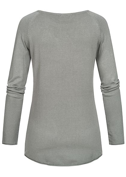 Seventyseven Lifestyle Damen Soft Touch Pullover hell grau