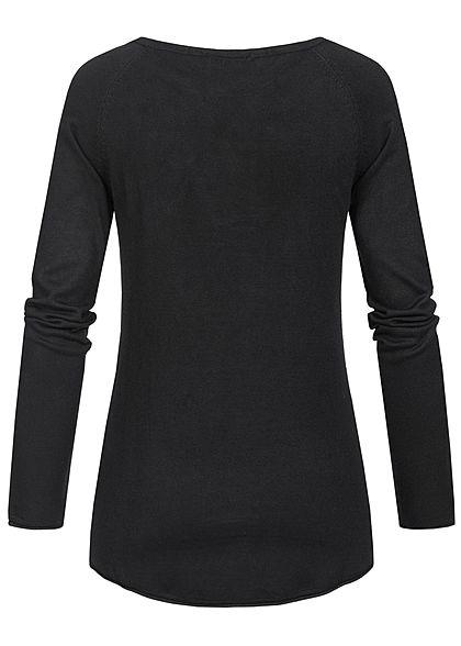 Seventyseven Lifestyle Damen Soft Touch Pullover schwarz
