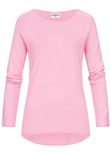 Seventyseven Lifestyle Damen Soft Touch Pullover rosa