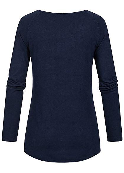 Seventyseven Lifestyle Damen Soft Touch Pullover navy blau