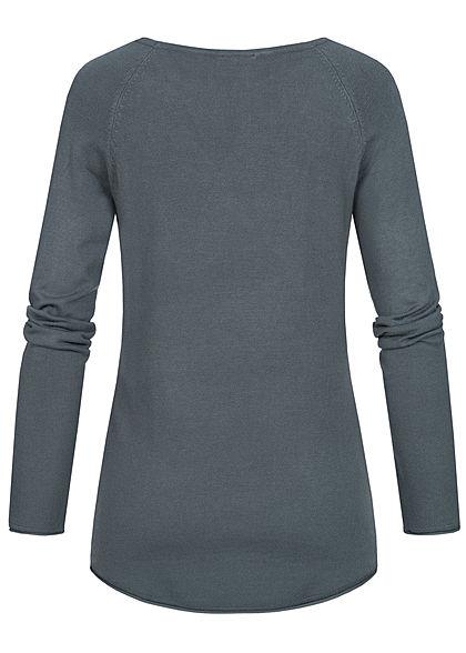 Seventyseven Lifestyle Damen Soft Touch Pullover dunkel grau