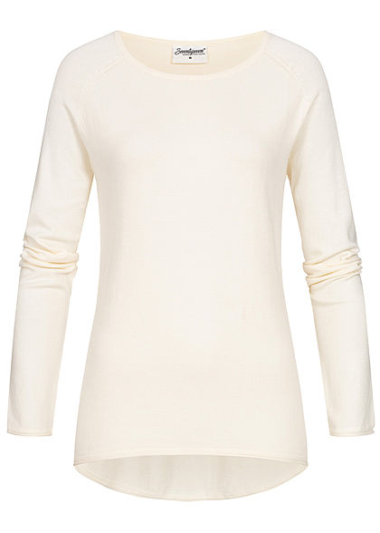 Seventyseven Lifestyle Damen Soft Touch Pullover ecru off weiss