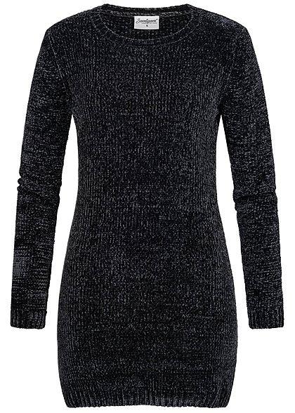 Styleboom Fashion Damen Longform Strickpullover