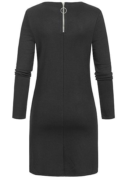 Seventyseven Lifestyle Damen Kleid Kontraststreifen seitl. schwarz weiss