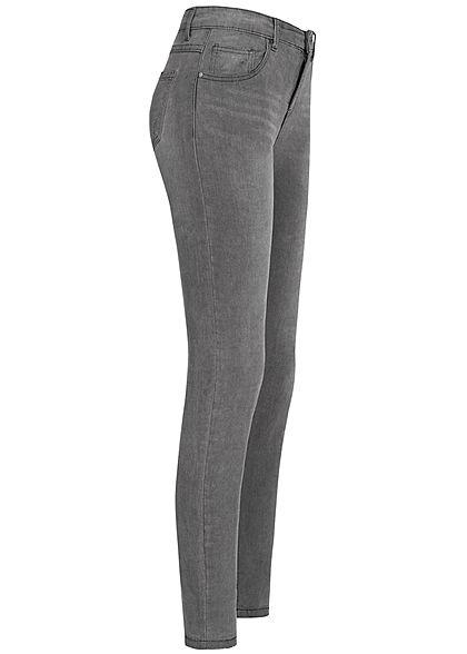 Seventyseven Lifestyle Damen Skinny Jeans 5-Pockets dunkel grau denim