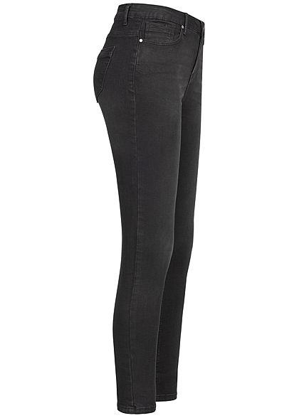 Seventyseven Lifestyle Damen High-Waist Skinny Jeans 5-Pockets schwarz denim