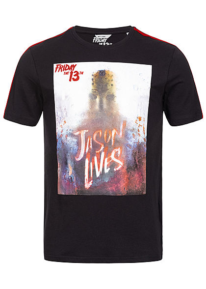 ONLY & SONS Herren T-Shirt Friday the 13th Print schwarz