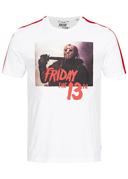 ONLY & SONS Herren T-Shirt Friday the 13th Print weiss