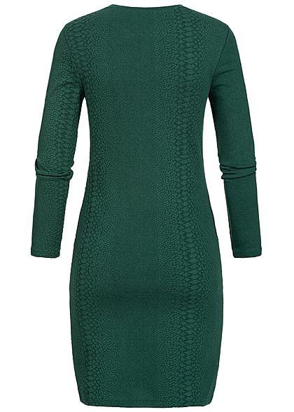 ONLY Damen Mini Kleid Struktur Muster ponderosa pine grün