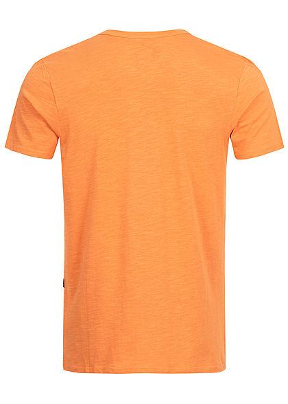 Hailys Herren Basic T-Shirt Brusttasche orange