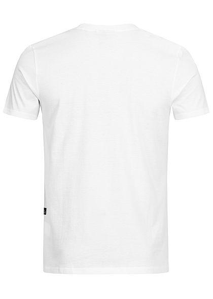 Hailys Herren T-Shirt Raw & Denim Print weiss rot schwarz