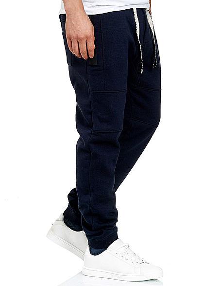Stitch & Soul Herren Jogging Hose 4-Pockets Tunnelzug navy blau