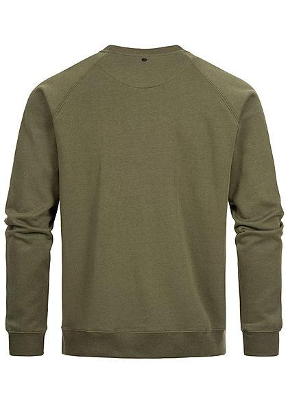 Hailys Herren Sweater NYC Patch khaki grün
