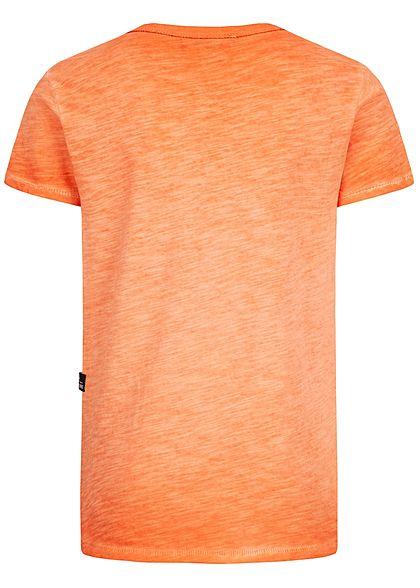 Hailys Kids Jungen Melange T-Shirt orange