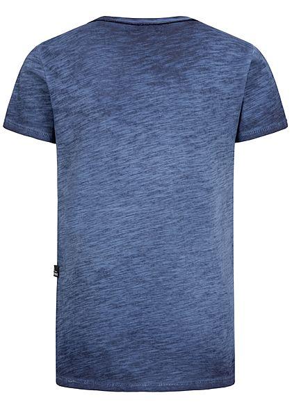 Hailys Kids Jungen Melange T-Shirt navy blau