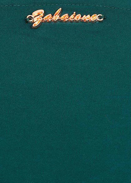 Zabaione Damen Longsleeve Brusttasche Rundhals pine grün