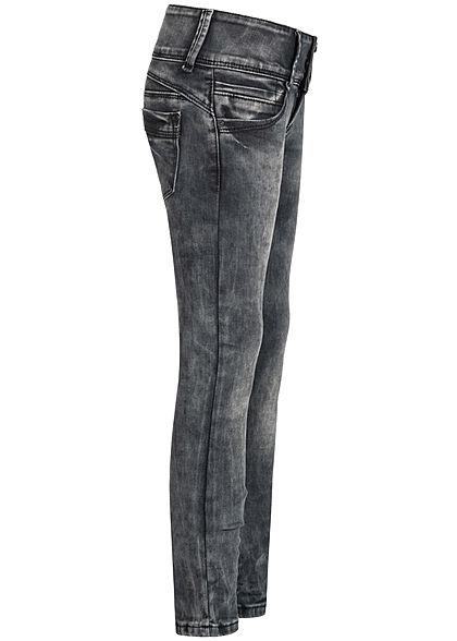 Hailys Kids Mädchen Low-Waist Skinny Jeans 5-Pockets breiter Bund schwarz denim