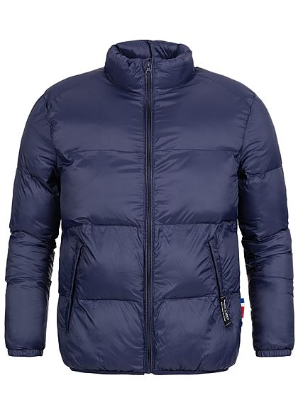 Hailys Herren Nylon Winter Steppjacke 2-Pockets navy blau