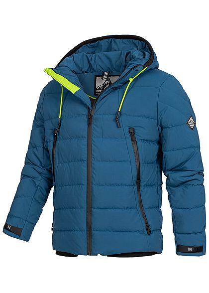 Hailys Herren Winter Jacke Kapuze 4-Pockets blau
