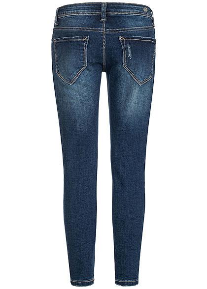 Hailys Kids Mädchen Skinny Jeans 5-Pockets dunkel blau denim
