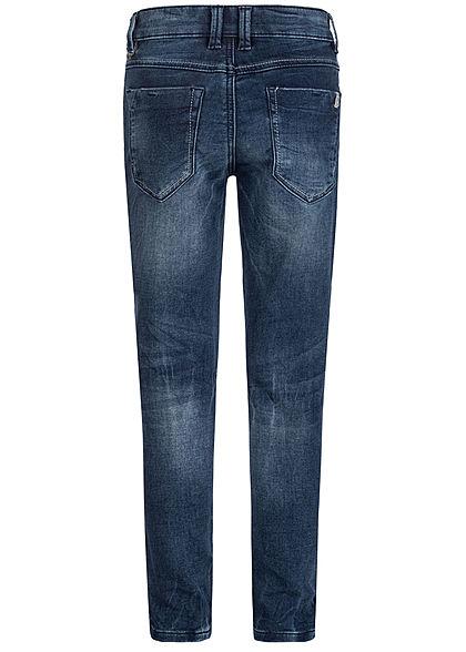 Hailys Kids Jungen Jeans 5-Pockets Destroy Look dunkel blau denim