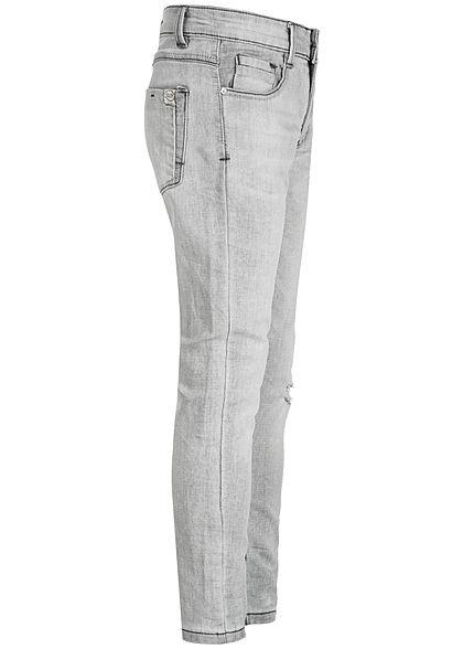 Hailys Kids Jungen Jeans 5-Pockets Destroy Look hell grau denim