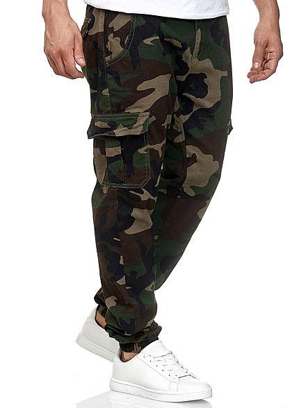 Seventyseven Lifestyle TB Herren Cargo Jogging Hose wood camouflage