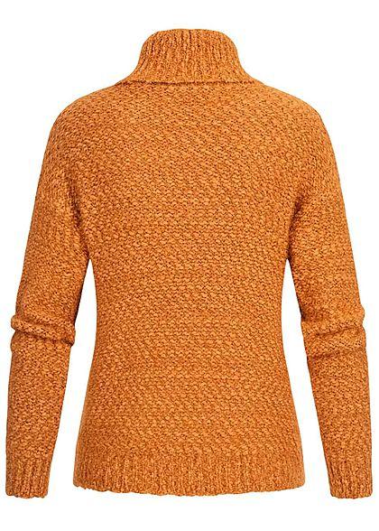 Hailys Damen Rollkragen Pullover Strick Pumkin orange