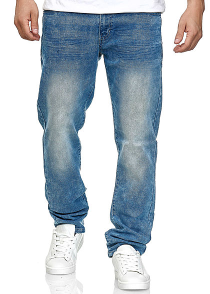 Southpole TB Herren Basic Skinny Fit Stretch Jeans Hose 5-Pockets sand blau denim