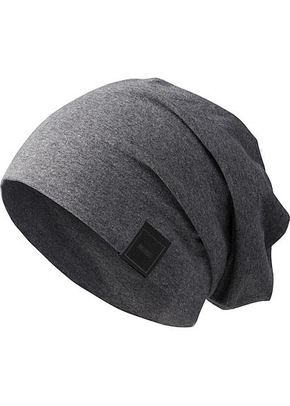 Seventyseven Lifestyle TB Basic Jersey Beanie Patch charcoal dunkel grau
