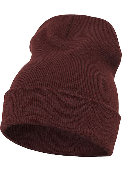 Seventyseven Lifestyle TB Basic Fisherman Long Beanie Strickmütze maroon bordeaux