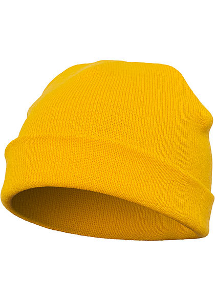 Seventyseven Lifestyle TB Basic Fisherman Beanie Strickmütze gold