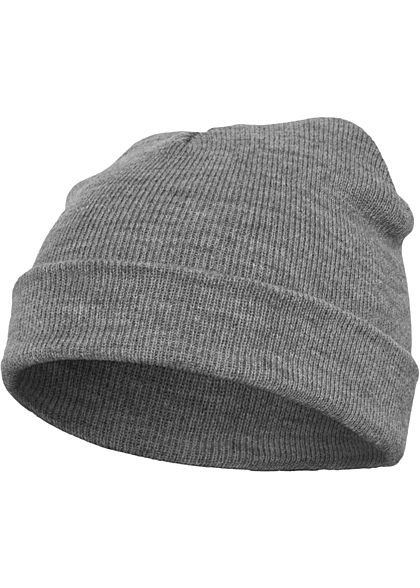 Seventyseven Lifestyle TB Basic Fisherman Beanie Strickmütze heather grau