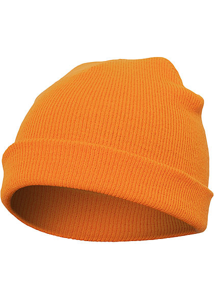 Seventyseven Lifestyle TB Basic Fisherman Beanie Strickmütze blaze orange