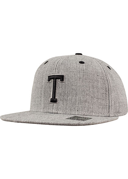 Flexfit TB Snapback Buchstaben Patch T heather grau