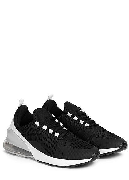 Seventyseven Lifestyle Herren Schuh 2-Tone Sneaker schwarz weiss