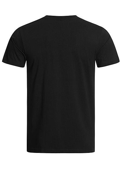 Mister Tee Herren T-Shirt Fuck It Print schwarz