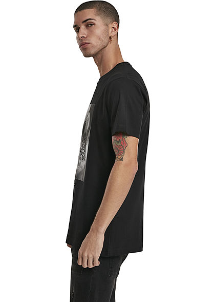 Mister Tee Herren T-Shirt Ballin Print schwarz