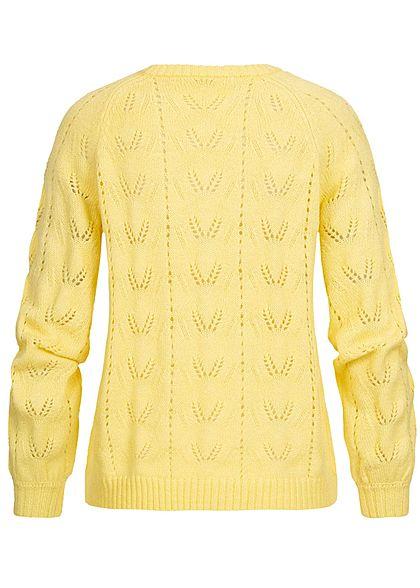 ONLY Damen Puffärmel Strickpullover pineapple gelb