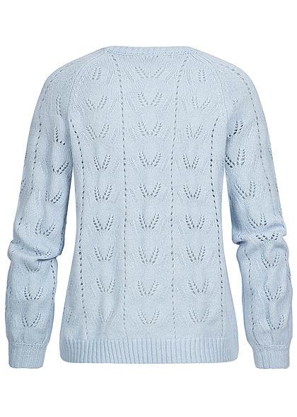 ONLY Damen Puffärmel Strickpullover cashmere blau