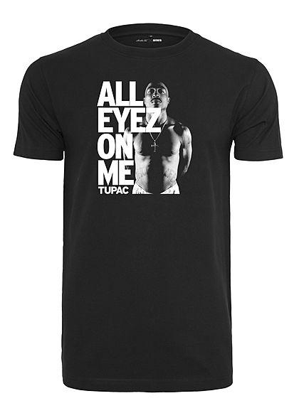 Mister Tee TB Herren T Shirt Tupac All Eyez On Me Print schwarz 77onlineshop