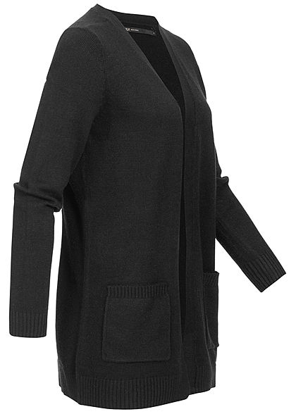 ONLY Damen NOOS Cardigan 2-Pockets offener Schnitt schwarz