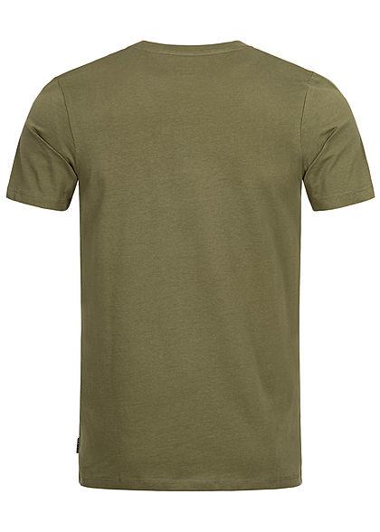 Jack and Jones Herren T-Shirt Frontprint winter moss olive